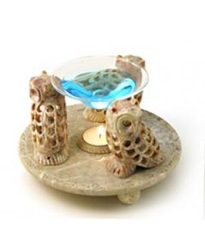 Diffusore in pietra live - Modello gufo