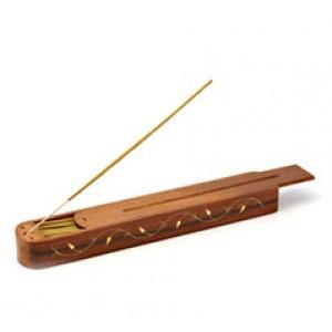 Portaincenso Cofanetto in legno intarsiato