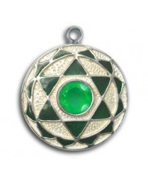 Ciondolo Chakra - Onice verde