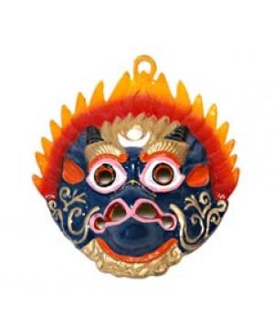 Maschera Tibetana in metallo
